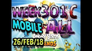Angry Birds Friends Tournament All Levels Week 301-C MOBILE Highscore POWER-UP walkthrough