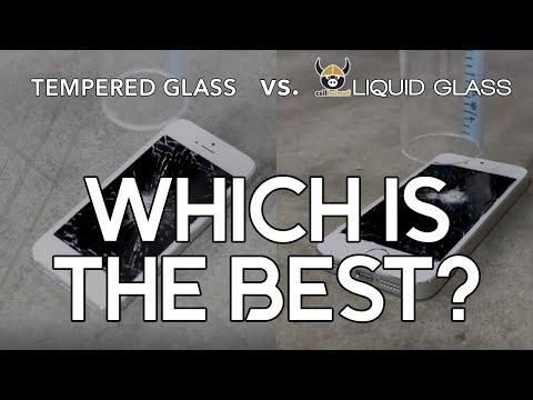 cellhelmet Liquid Glass vs Tempered Glass Drop Test