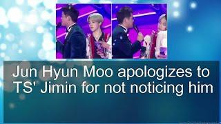 Jun Hyun Moo apologizes to BTS Jimin for not noticing him   allkpop