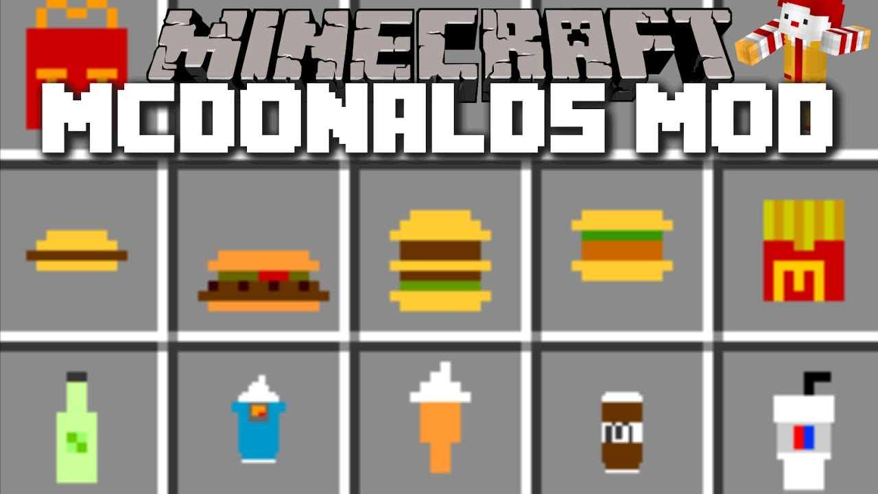 Minecraft mcdonalds mod mcfood and fast food mayhem for Cuisine minecraft