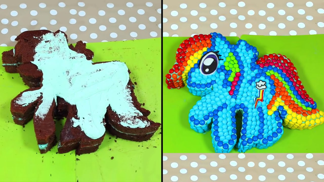 Ultimate my little pony rainbow dash m m cake recipe for M m cake decoration