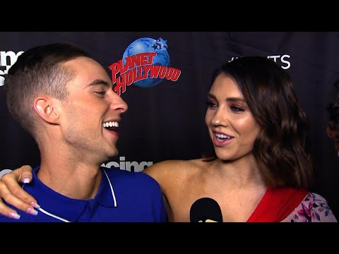Adam Rippon Jokes He's Trying to Steal Jenna Johnson From Val Chmerkovskiy on 'DWTS'
