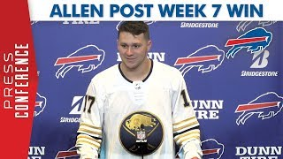 "Josh Allen Post Week 7 Win | ""Play to Our Strengths"""