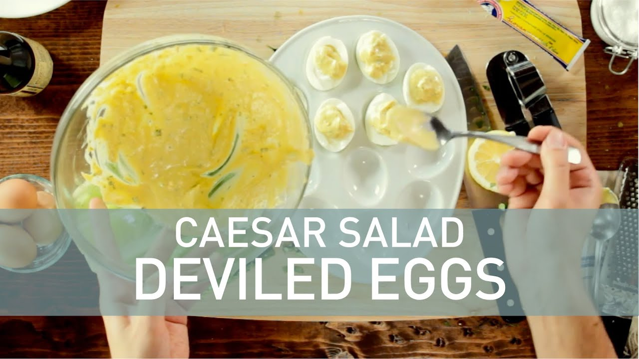 Caesar Salad Deviled Eggs - Food Deconstructed - YouTube