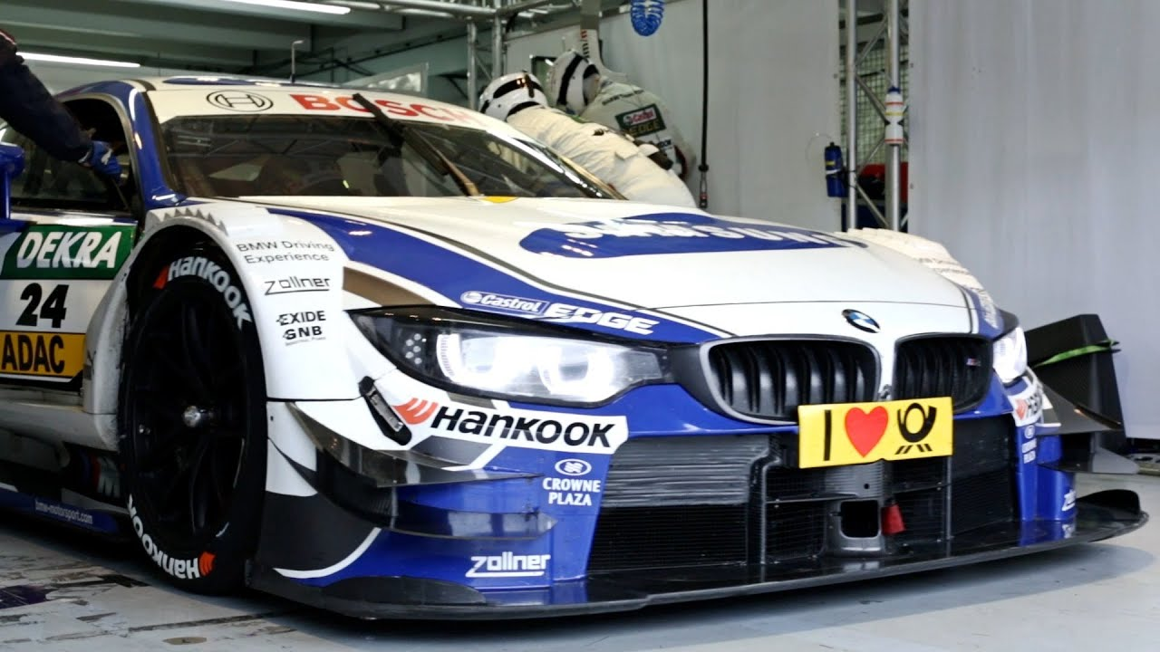 New Bmw M4 Dtm Test On Track Youtube