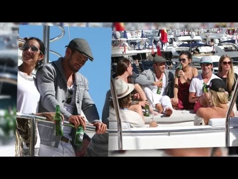 Kellan Lutz Yachts With Hot Women in Monaco | Splash News TV | Splash News TV