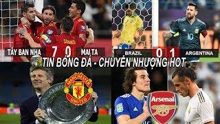 💥Tin bóng đá 16/11 KQ Euro TBN đại thắng, Messi đòi nợ Brazil, Arsenal chi đậm mua Bale & hàng thủ