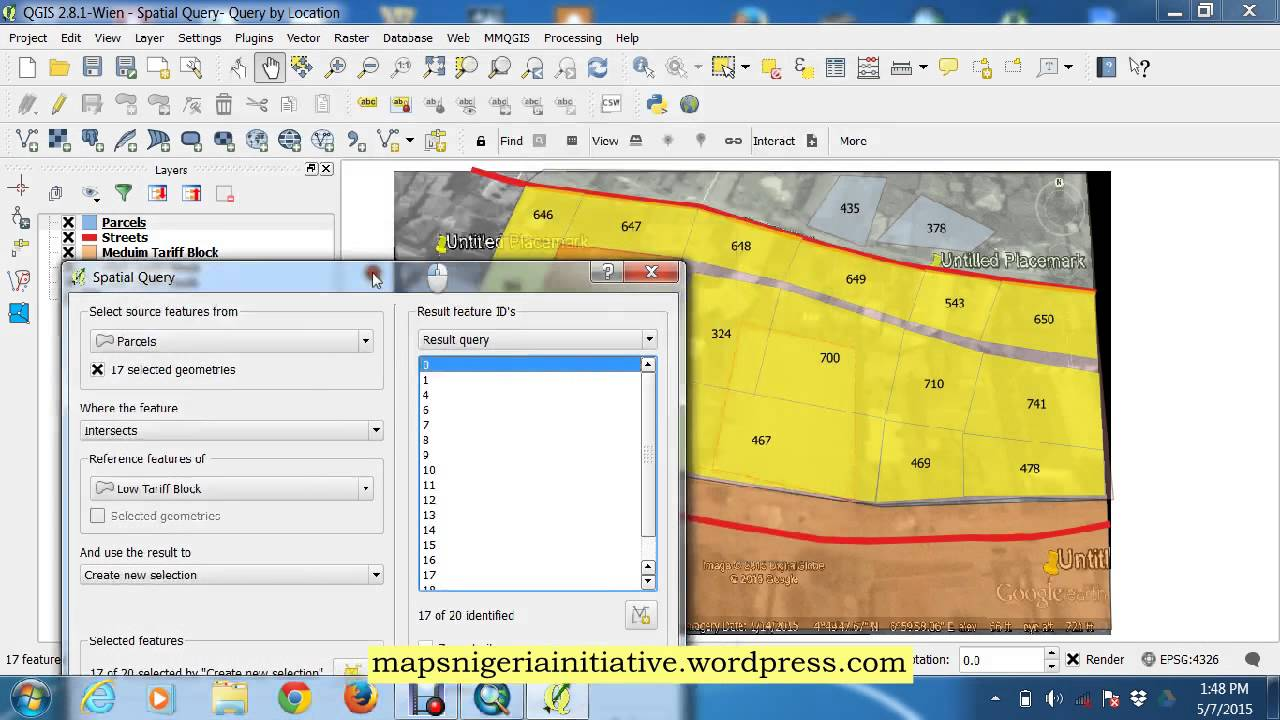 Performing Spatial Query in QGIS