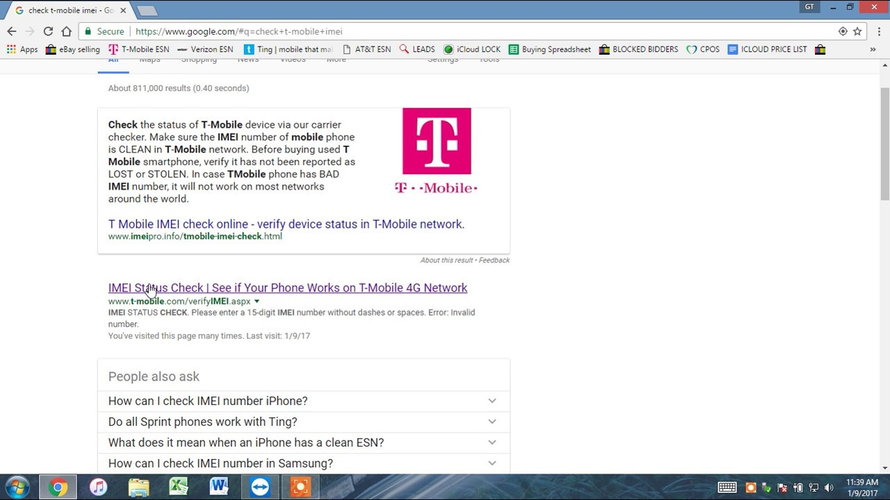 Check imei for t mobile