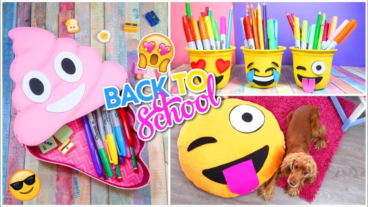 3 diy utiles escolares emojis manualidades regreso a - Cosas hechas a mano para vender ...