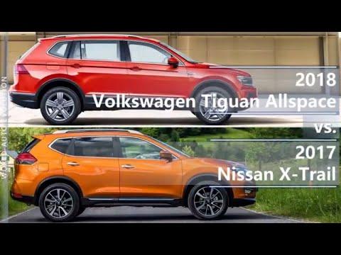 2018 Volkswagen Tiguan Allspace Vs 2017 Nissan X-Trail (technical Comparison)
