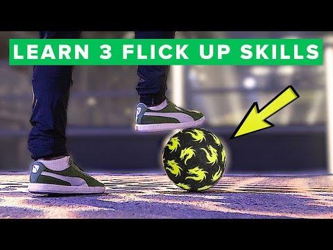 LEARN 3 FLICK UPS FAST - 3 simple football skills