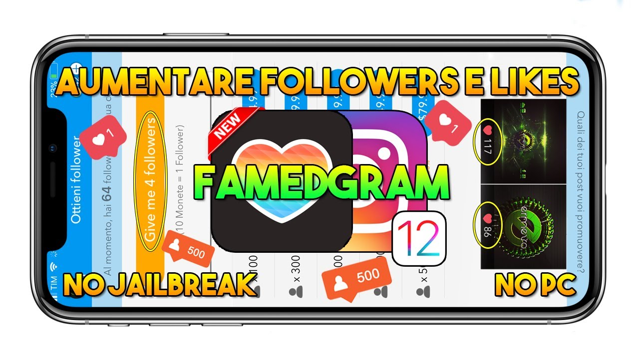 Come AUMENTARE i FOLLOWERS e i LIKES di INSTAGRAM (Famedgram) su IOS 12  [2018] - App IOS by ERMEVO' S