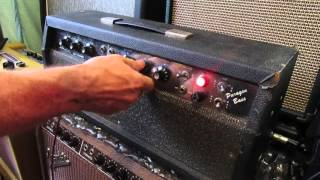 alamo paragon bass amp with 2 x 6l6 power tubes and one gz34 rectifier