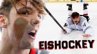 EISHOCKEY gegen PROFIS 😨 - Lochi vs. Lochi