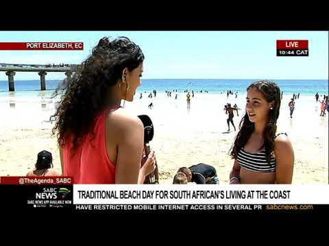 Traditional beach day for South African's living at the coast, Jayed-Leigh Paulse reports