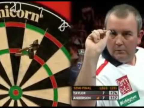 Phil Taylor vs. Gary Anderson - Semi-Final Highlights - 2007 PDC Grand Slam
