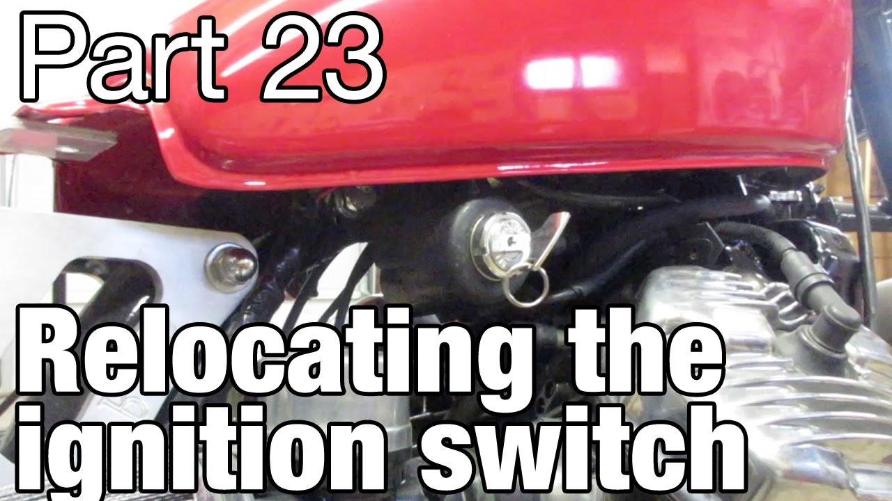 hight resolution of relocating the ignition switch on the honda cx500 moto fugazi build part 23 youtube
