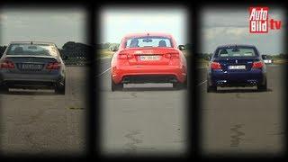 Mercedes E 63 Amg Vs. Bmw M5 Und Audi Rs 6