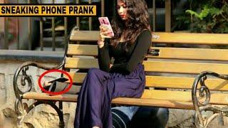 SNEAKING PHONE IN PUBLIC | HSJ PRANKS | PRANKS IN INDIA