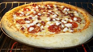 Pizza, 4 Meat, Pepperoni. Salami, Sausage, Chicken 1/6  Chef John The Ghetto Gourmet Show