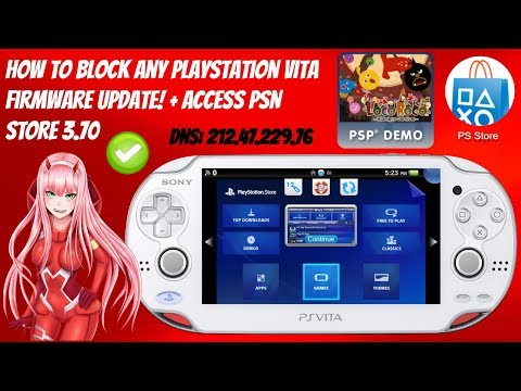 How To Block Any PlayStation Vita Firmware Update! + ACCESS PSN STORE 3.70