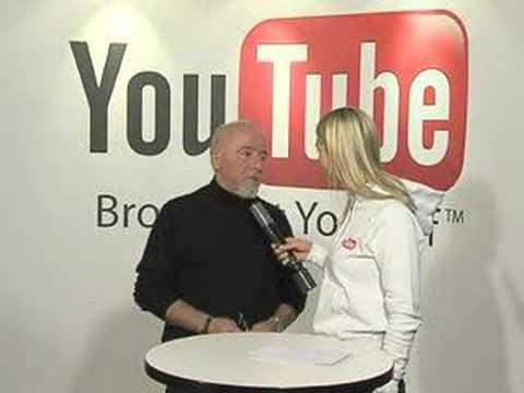 YouTube Reporter am DLD 2008 - Paulo Coelho