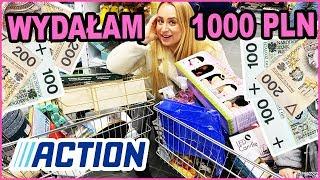 WYDAŁAM 1000zł W ACTION! 🤭🤭🤭