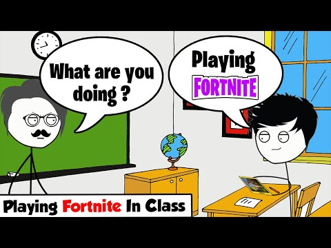 When A Gamer Plays Fortnite In The Exam Room And Fails The Exam
