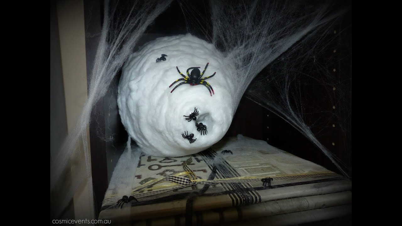 How To Make A Spiders Nest Halloween Tutorial 2015 Diy