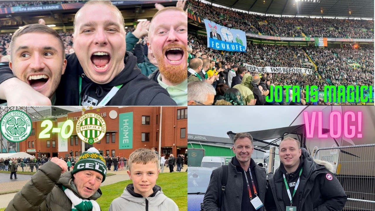 Download CELTIC WIN IN EUROPE!   KYOGO AND JOTA SHOW THEIR CLASS!   CELTIC VS FERENCVAROS EUROPA LEAGUE VLOG!
