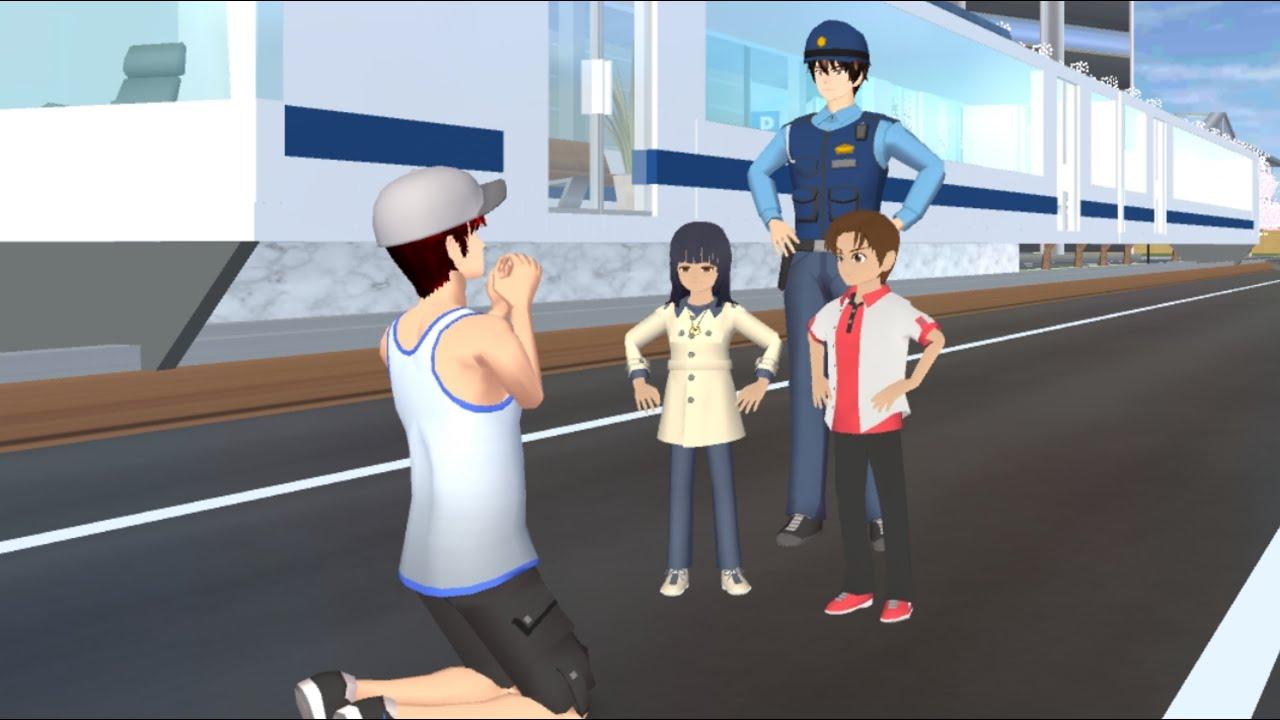 Yuta Mio Bantu Ibu Hamil Tangkap Pencopet Di Kereta Api MRT | Drama Sakura School Simulator