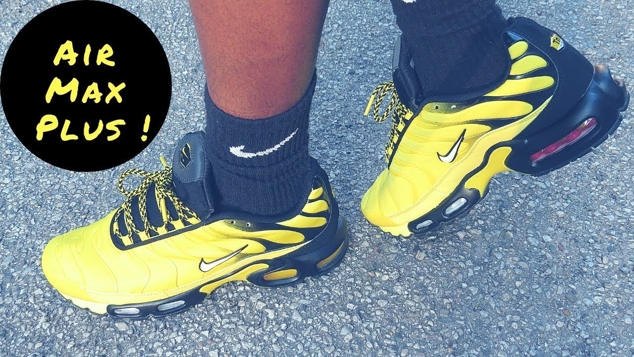 finest selection 4bcac 2b679 Tour Yellow Nike Air Max Plus Unboxing & On Foot Review!