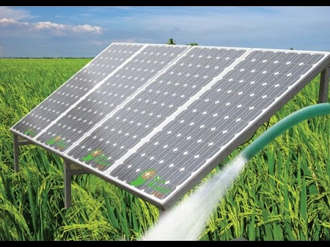 Solar pumps for agriculture.  Supporting India's green revolution. SuryaUrjaa.com