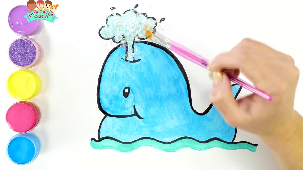 "Aneka Ekosistem Laut ""IKAN PAUS""Menggambar Dan Mewarnai"
