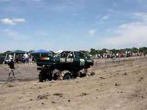 """The """"Incredible Hulk"""" truck at Rockwall County Mud Bog"""