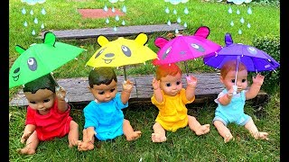 Rain Rain Go Away -Playing with Umbrellas