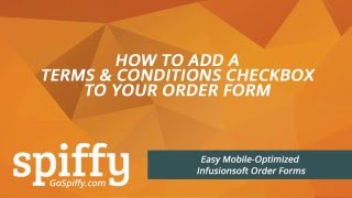 Infusionsoft Order Form: How to Add A Terms & Conditions Checkbox