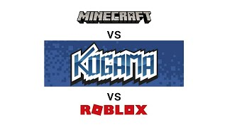 Minecraft VS ROBLOX VS Kogama + (Link of the Games in the description)