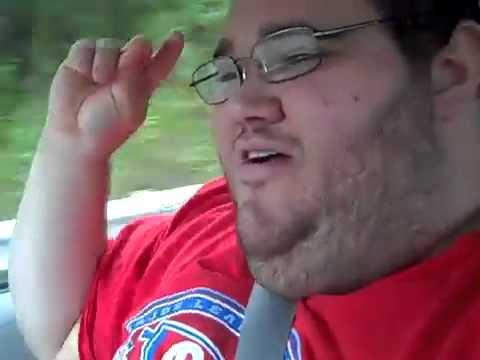 Chubby guy singing