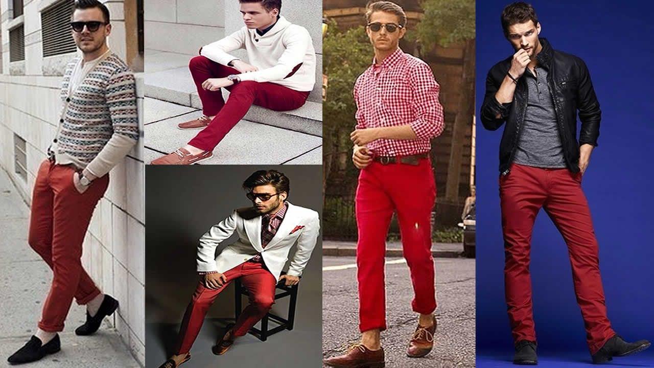 Pantalones Rojos Outfits Para Hombres Youtube