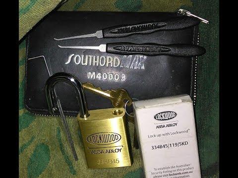 Взлом отмычками ABLOY 334B45/119/5KD   Lock Picking Lockwood 334B45/119/5KD ASSA ABLOY Padlock