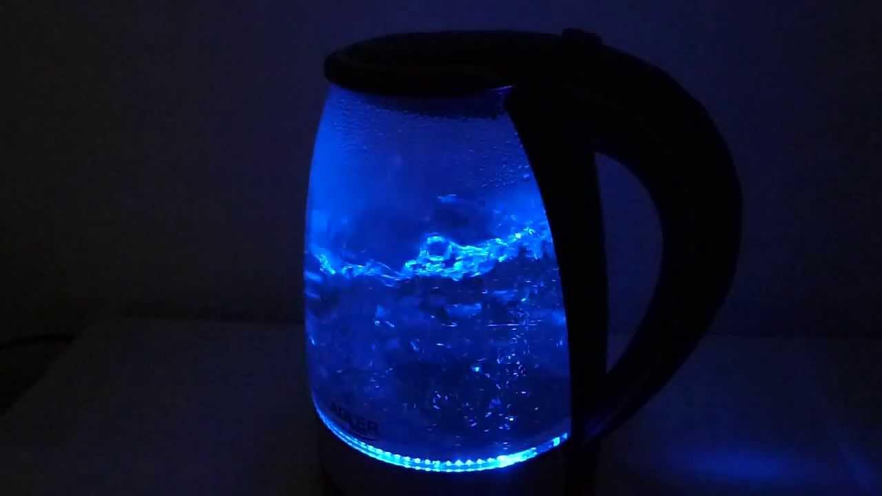 Cordless Glass Kettle 1 7l Adler Ad 1225 Youtube