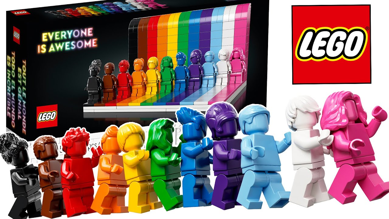 LEGO Pride Monochromatic Minifigure Set   Everyone is Awesome Official  Images & Preview! - YouTube