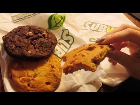 ASMR - Eating Assorted Subway Cookies (CRUNCHY)