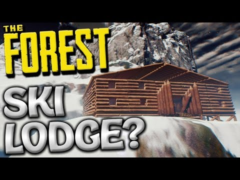 The Forest Creative Mode - MOUNTAIN BASE CONTINUES - Update 0.52 Creative Gameplay - #4