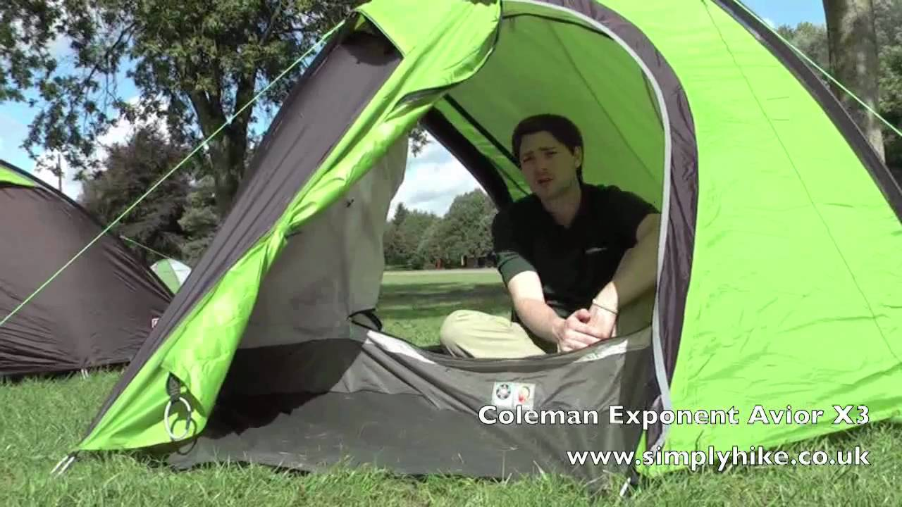 coleman exponent avior x3 www simplyhike co uk youtube rh youtube com