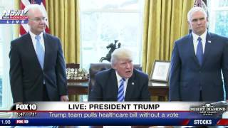 REACTION: President Trump Responds To Pulling The GOP Healhcare Bill