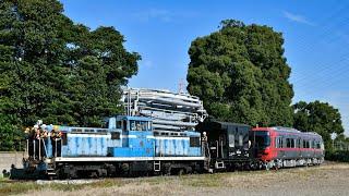 名鉄9500系(9503F、9504F)甲種輸送 築港線東名古屋港発車