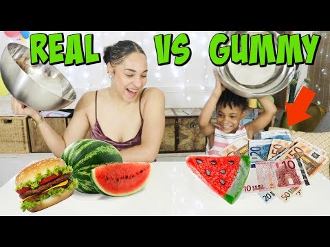 REAL FOOD VS GUMMY FOOD ,Vraie nouriture ,bonbons ou choses